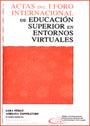 tapa del libro Actas del 1° Foro Internacional de Educación en Entornos Virtuales Sara Perez - Adriana Imperatore (Compiladoras)